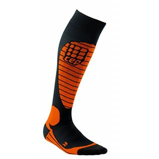 Progressive Ski Race Socks Women Größe IV black Flash orange